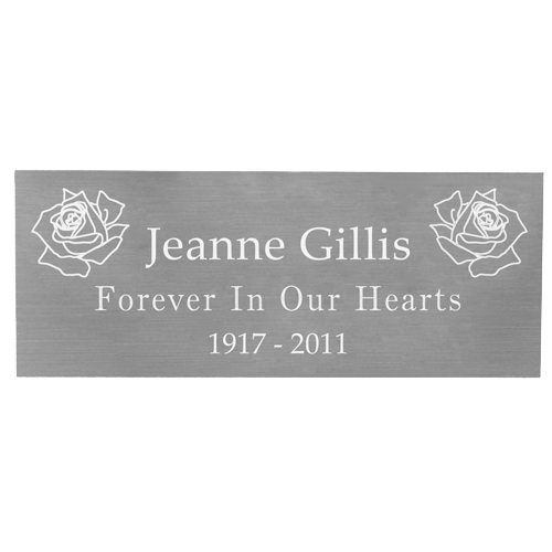 Engraved Memorial Plaque-silver finish-Accessories-New Memorials-Small-Afterlife Essentials