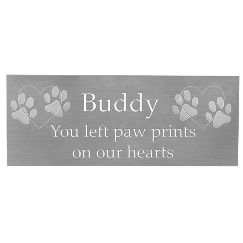 Engraved Pet Memorial Plaque- Small Silver Finish-Plaques-New Memorials-Afterlife Essentials