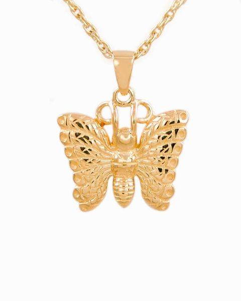 Gold Plated Butterfly Cremation Jewelry-Jewelry-Cremation Keepsakes-Afterlife Essentials