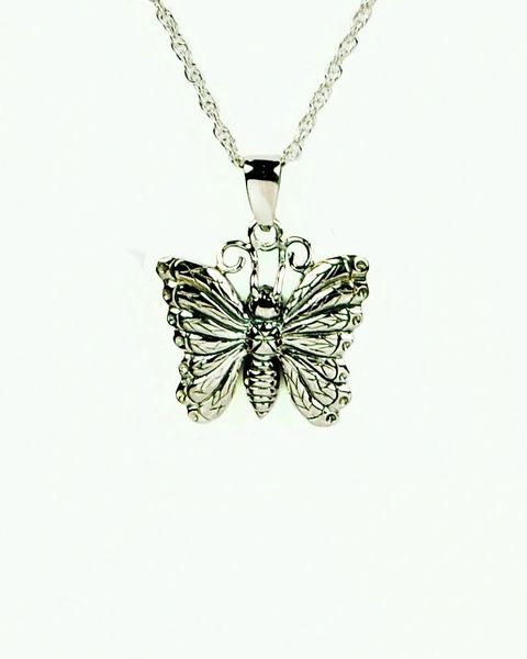 Sterling Silver Butterfly Cremation Jewelry-Jewelry-Cremation Keepsakes-Afterlife Essentials