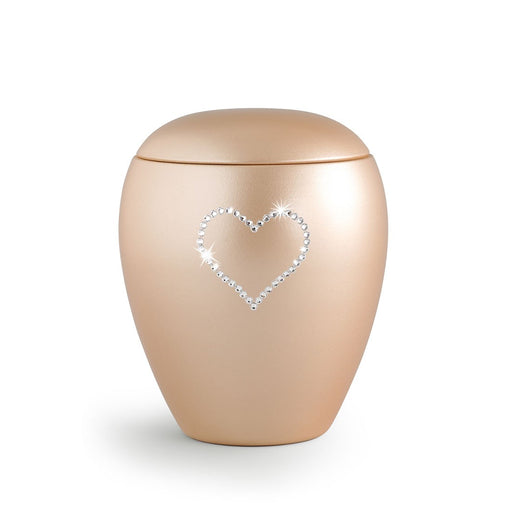 Heart & Soul Apricot Keepsake Cremation Urn-Cremation Urns-Infinity Urns-Afterlife Essentials