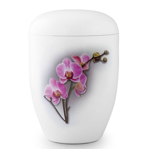 Biodegradable White Orchid 305 cu in Cremation Urn-Cremation Urns-Infinity Urns-Afterlife Essentials
