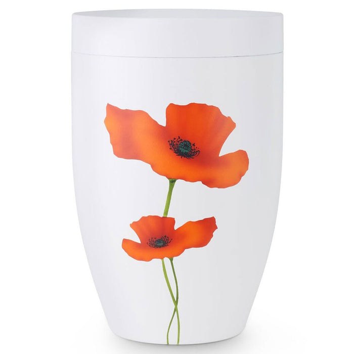 White Poppy 305 cu in Cremation Urn-Cremation Urns-Infinity Urns-Afterlife Essentials