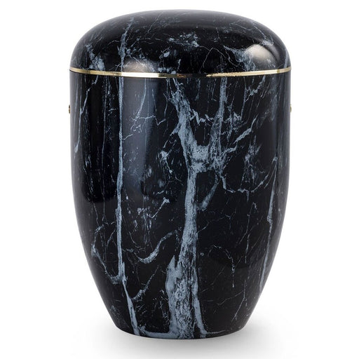 Biodegradable Marmorean Series Ebony Swirl 305 cu in Cremation Urn-Cremation Urns-Infinity Urns-Afterlife Essentials