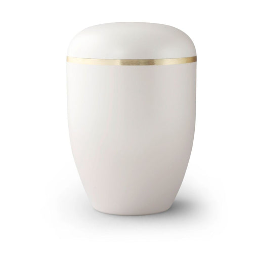 Amos Series Biodegradable Crisp Linen 305 cu in Cremation Urn-Cremation Urns-Infinity Urns-Crisp Linen-Afterlife Essentials