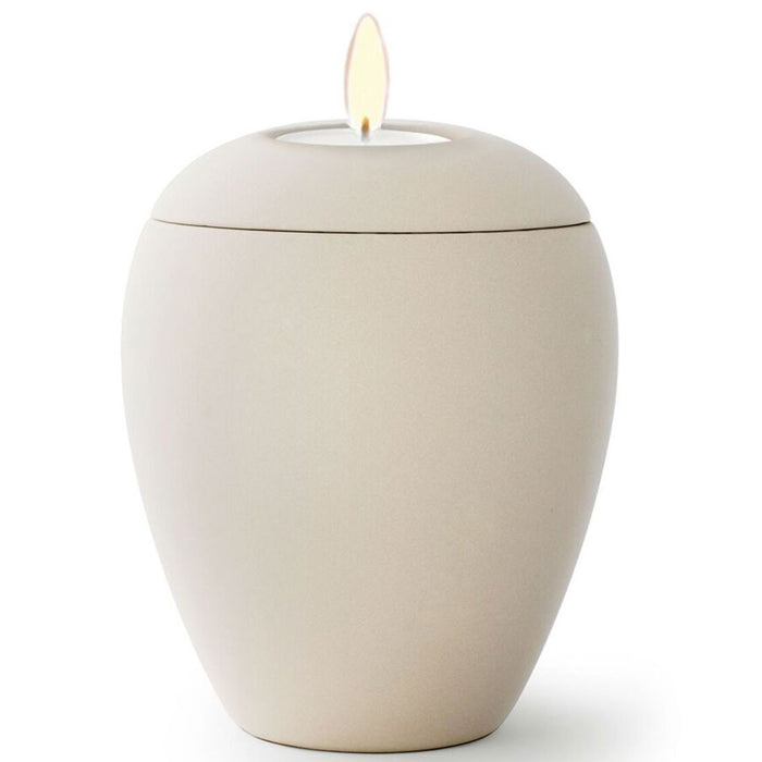 Kaleidoscope Candle Cremation Urn-Cremation Urns-Infinity Urns-Ivory-Afterlife Essentials