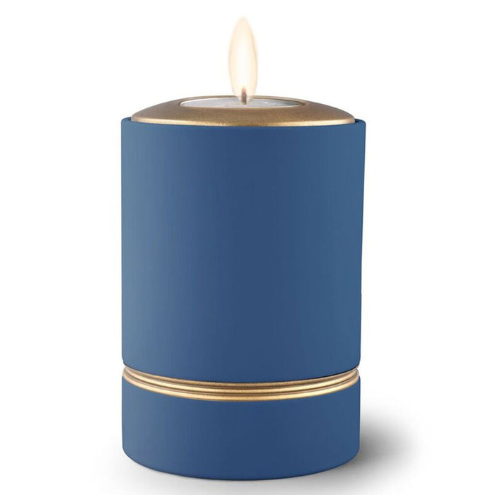 Tealux Tea Light Candle Holder Cremation Urn-Cremation Urns-Infinity Urns-True Blue-Afterlife Essentials