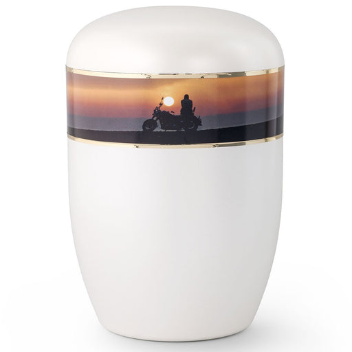 Biodegradable Series Biker Sunset 210 cu in Cremation Urn-Cremation Urns-Infinity Urns-Afterlife Essentials