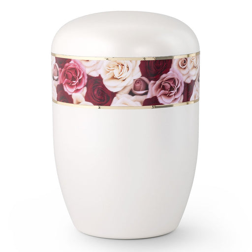 Biodegradable Series Multi-Colored Roses 210 cu in Cremation Urn-Cremation Urns-Infinity Urns-Afterlife Essentials