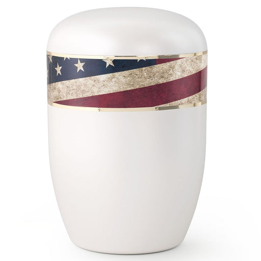 Biodegradable Series Vintage Flag 210 cu in Cremation Urn-Cremation Urns-Infinity Urns-Afterlife Essentials