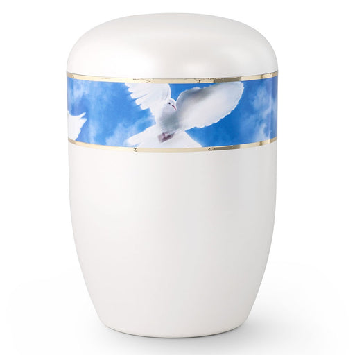 Biodegradable Series White Dove 210 cu in Cremation Urn-Cremation Urns-Infinity Urns-Afterlife Essentials