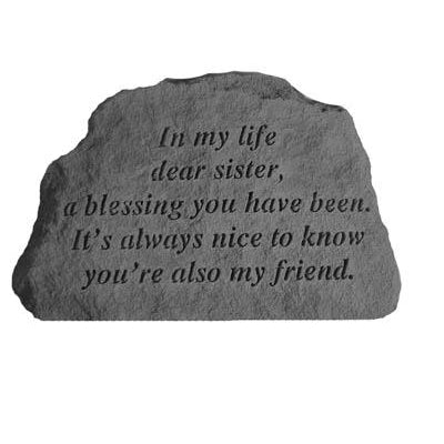 In my life dear sister… Memorial Gift-Memorial Stone-Kay Berry-Afterlife Essentials