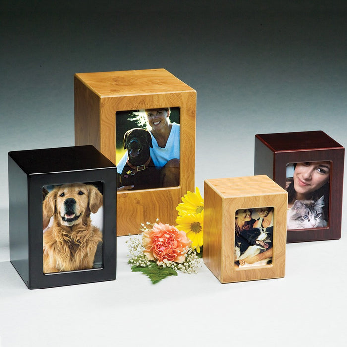 Moments Black Small 25 cu in Cremation Urn-Cremation Urns-Infinity Urns-Afterlife Essentials