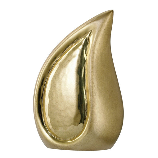 "800/3"" Teardrop Brushed Brass Keepsake Cremation Urn-Cremation Urns-Urns of Distinction-Afterlife Essentials"