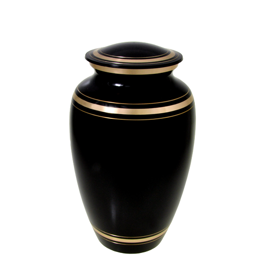 Plain Black Gold Series 60 cu in Cremation Urn-Cremation Urns-New Memorials-Afterlife Essentials