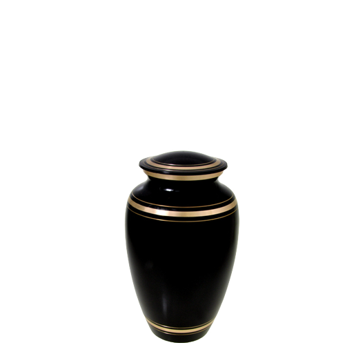 Plain Black Gold Series 4 cu in Cremation Urn-Cremation Urns-New Memorials-Afterlife Essentials