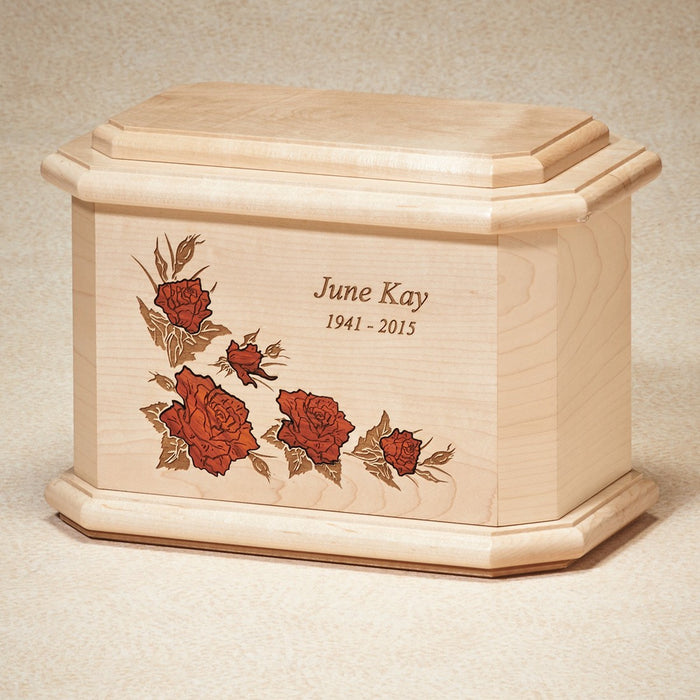 Rose Mist Maple Wood Adult 200 cu in Cremation Urn-Cremation Urns-Infinity Urns-Afterlife Essentials