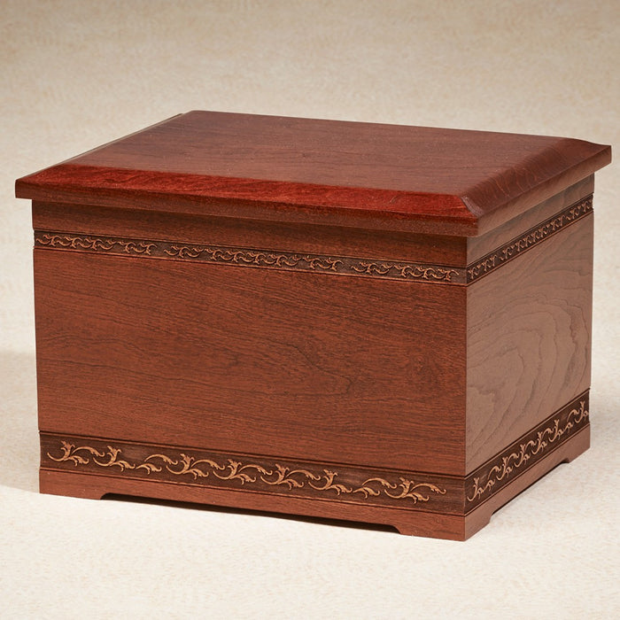 Natural Cherry Wood 400 cu in Cremation Urn-Cremation Urns-Infinity Urns-Afterlife Essentials