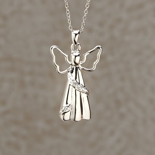Angel Pendant Cremation Jewelry-Jewelry-Infinity Urns-Afterlife Essentials