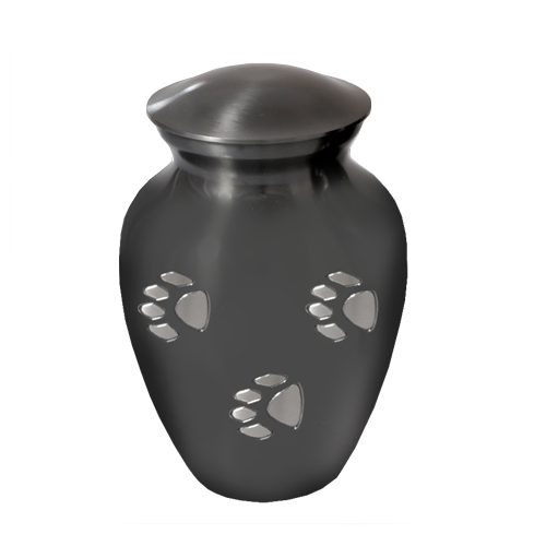 Pawprints Classic Grey Medium Pet Urns - Afterlife Essentials