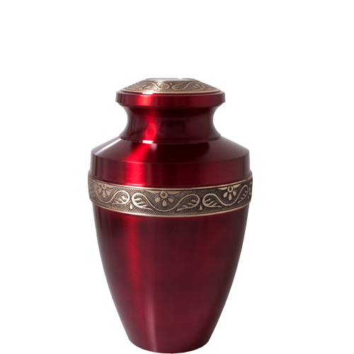 Scarlet Brass Pet Medium 60 cu in Cremation Urn-Cremation Urns-New Memorials-Afterlife Essentials