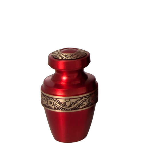 Scarlet Brass Pet Mini 3 cu in Cremation Urn Keepsake-Cremation Urns-New Memorials-Afterlife Essentials