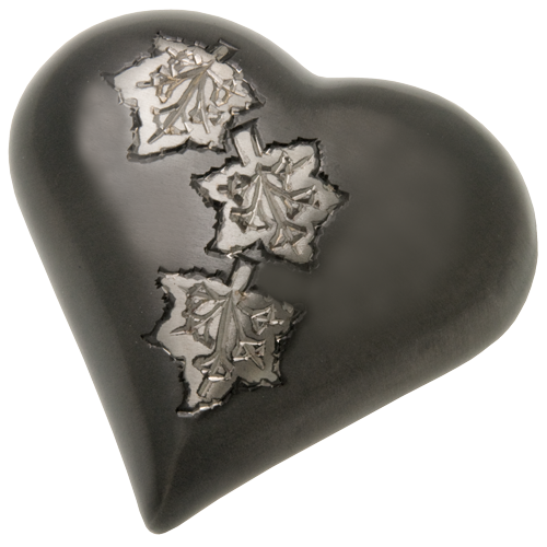 Falling Leaves Heart Mini 3 cu in Cremation Urn Keepsake-Cremation Urns-New Memorials-Afterlife Essentials