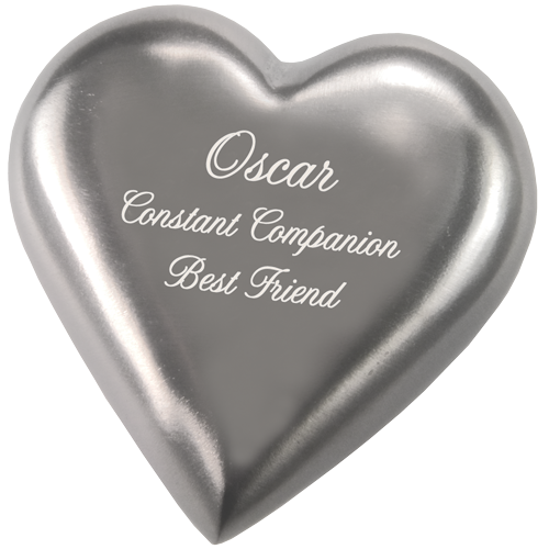 Pewter Heart Pet Mini 5 cu in Cremation Urn Keepsake-Cremation Urns-New Memorials-Afterlife Essentials