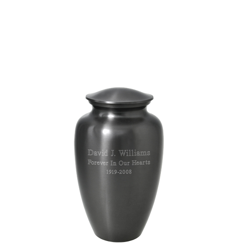 Simple Grey Mini 3 cu in Cremation Urn Keepsake-Cremation Urns-New Memorials-Afterlife Essentials