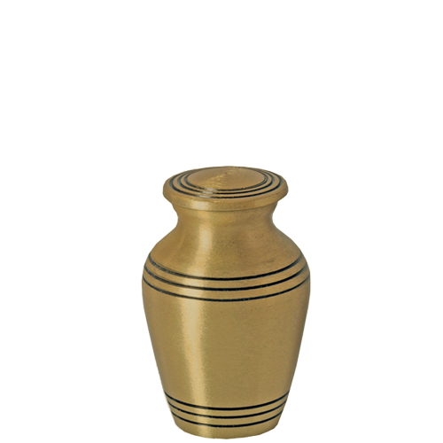 Golden Classic Series 2 cu in Cremation Urn-Cremation Urns-New Memorials-Afterlife Essentials