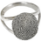 Elegant Oval V Ring Fingerprint Memorial Jewelry-Jewelry-New Memorials-Sterling Silver-Compartment-5-Afterlife Essentials