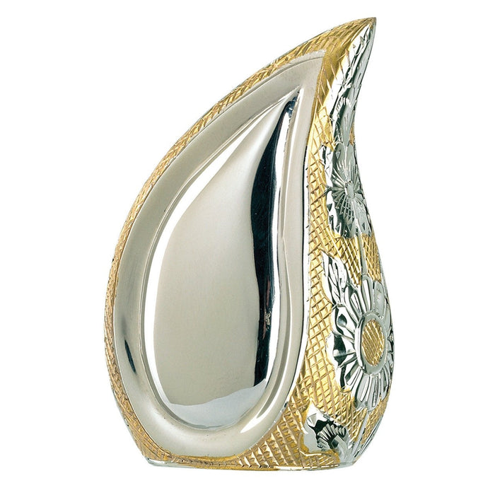 "840/3"" Teardrop Silver/Gold Keepsake Cremation Urn-Cremation Urns-Urns of Distinction-Afterlife Essentials"