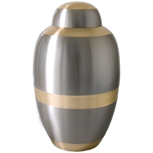 Traditional Two Tone 200 cu in Cremation Urn-Cremation Urns-New Memorials-Afterlife Essentials