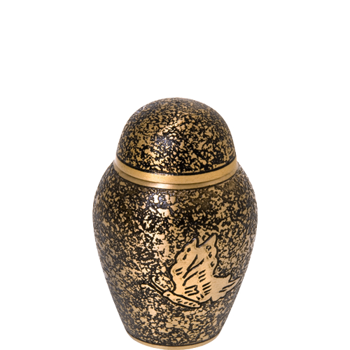 Antique Butterfly Mini 3 cu in Cremation Urn Keepsake-Cremation Urns-New Memorials-Afterlife Essentials