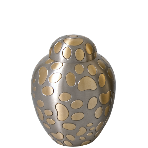 Golden Pawprints Cat Small Cremation Urn-Cremation Urns-New Memorials-Afterlife Essentials