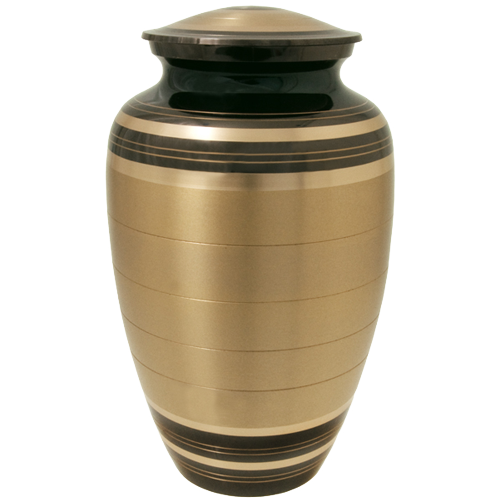 Black And Brass Series 200 cu in Cremation Urn-Cremation Urns-New Memorials-Afterlife Essentials