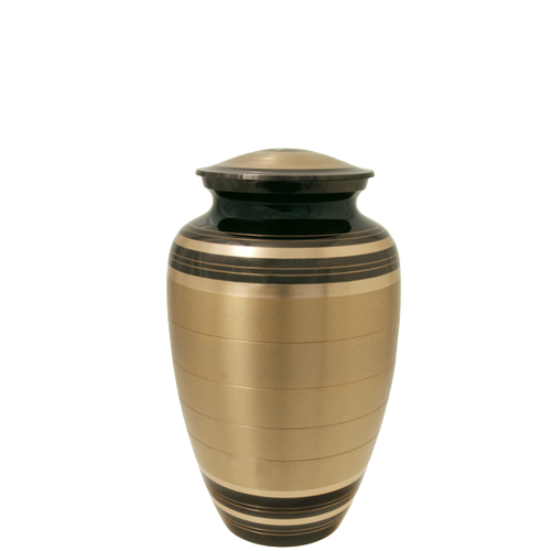 Black And Brass Series 60 cu in Cremation Urn-Cremation Urns-New Memorials-Afterlife Essentials