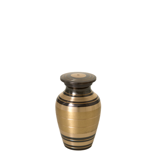 Black And Brass Series 3 cu in Cremation Urn-Cremation Urns-New Memorials-Afterlife Essentials