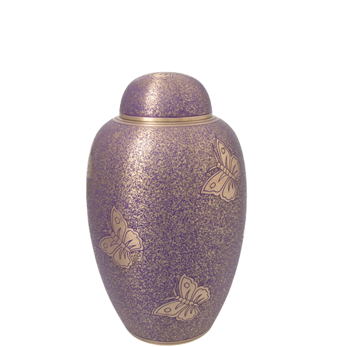 Butterflies Purple Medium 60 cu in Cremation Urn-Cremation Urns-New Memorials-Afterlife Essentials