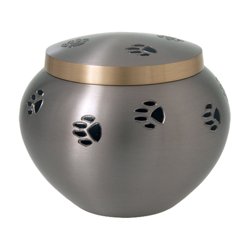 Black Pawprints Dog Urn - Xl Pet Urns - Afterlife Essentials