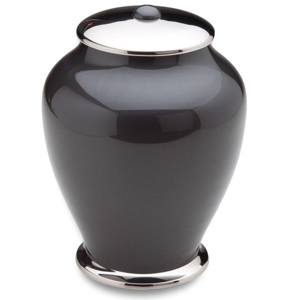 Midnight Simplicity Brass 225 cu in Cremation Urn-Cremation Urns-Infinity Urns-Afterlife Essentials