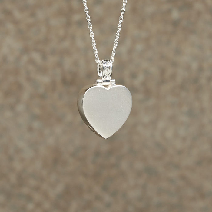 Plain Heart Pendant Cremation Jewelry-Jewelry-Infinity Urns-Afterlife Essentials