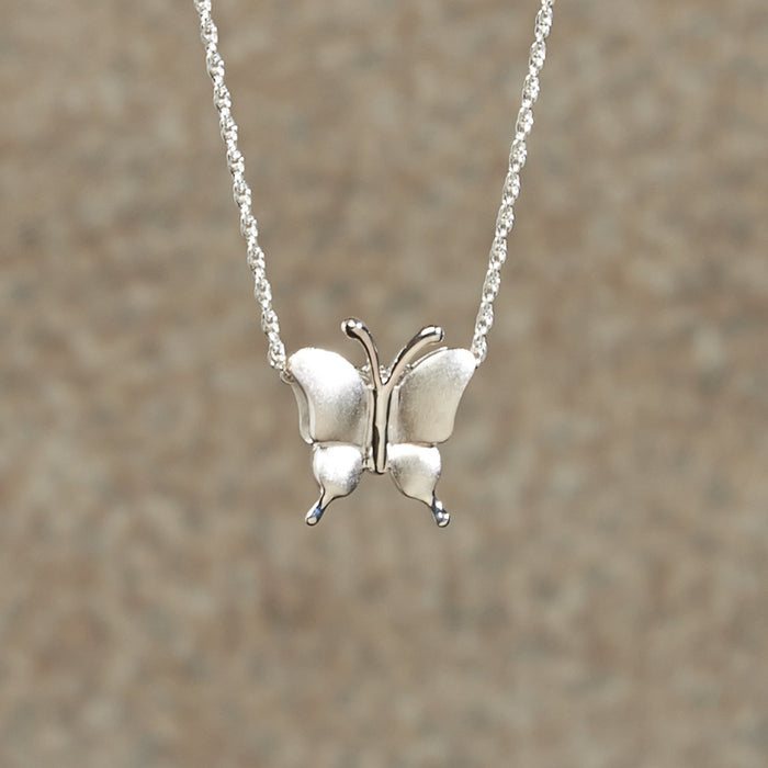 Petite Butterfly Sterling Silver Keepsake Cremation Jewelry-Jewelry-Infinity Urns-Sterling Silver-Afterlife Essentials