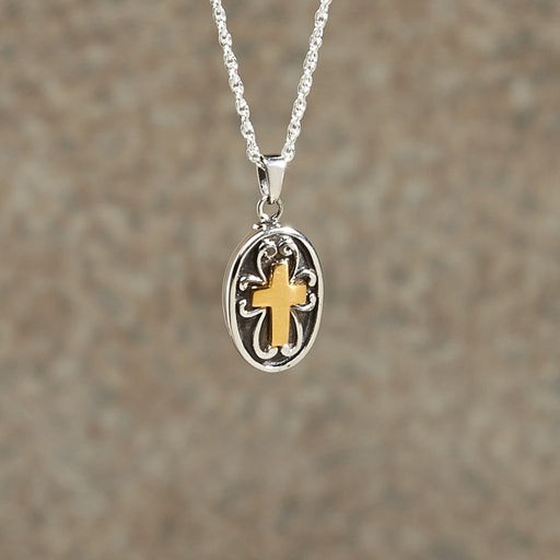 Cross Pendant Cremation Jewelry-Jewelry-Infinity Urns-Afterlife Essentials