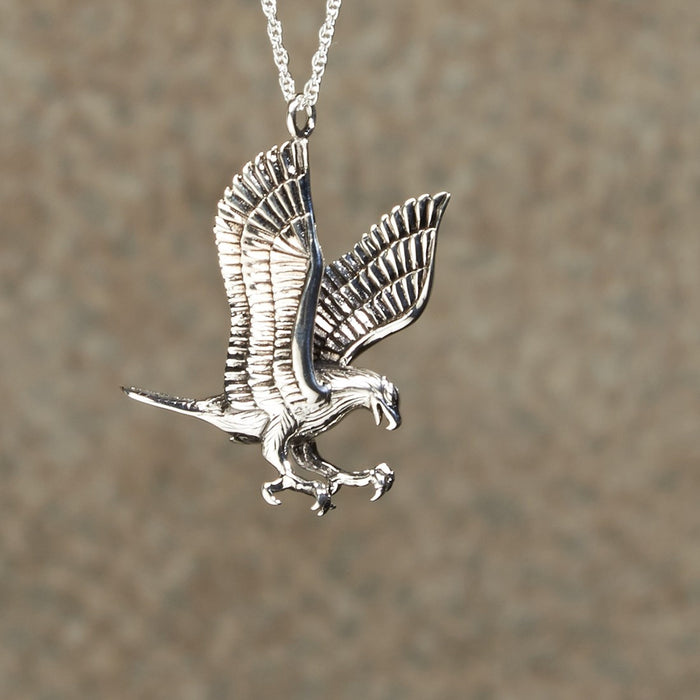 Soaring Eagle Pendant Cremation Jewelry-Jewelry-Infinity Urns-Afterlife Essentials