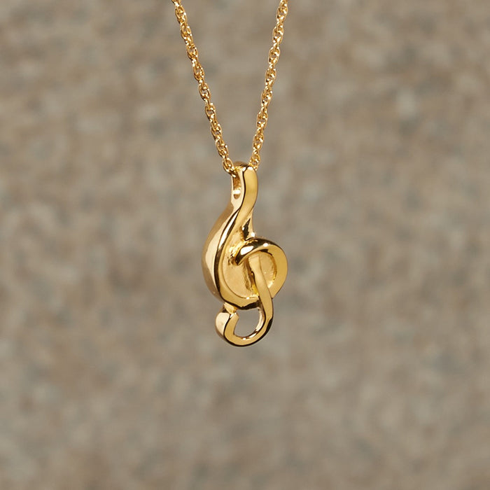 Music Note Pendant Cremation Jewelry-Jewelry-Infinity Urns-Afterlife Essentials