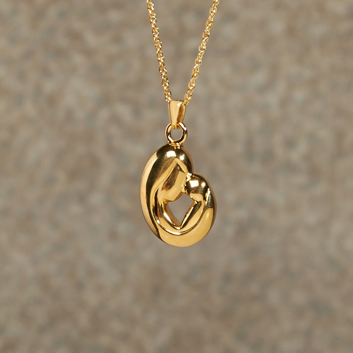 Mother And Child Pendant Cremation Jewelry-Jewelry-Infinity Urns-14K Gold Plated-Afterlife Essentials