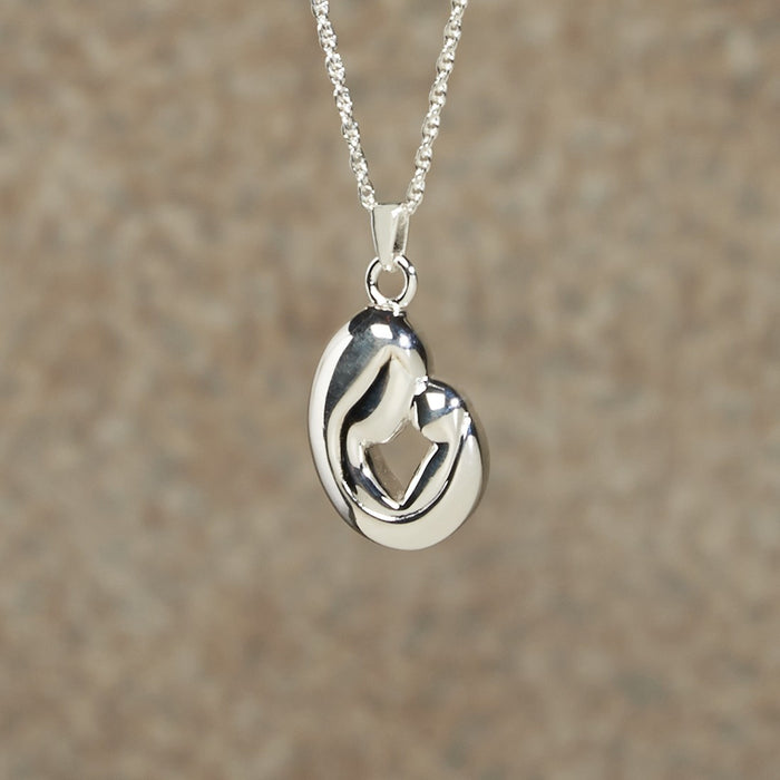 Mother And Child Pendant Cremation Jewelry-Jewelry-Infinity Urns-Sterling Silver-Afterlife Essentials