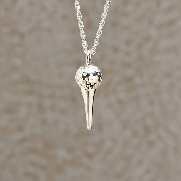 Golf Ball with Tee Pendant Cremation Jewelry-Jewelry-Infinity Urns-Afterlife Essentials