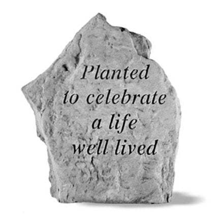 Planted to celebrate… Memorial Gift-Memorial Stone-Kay Berry-Afterlife Essentials